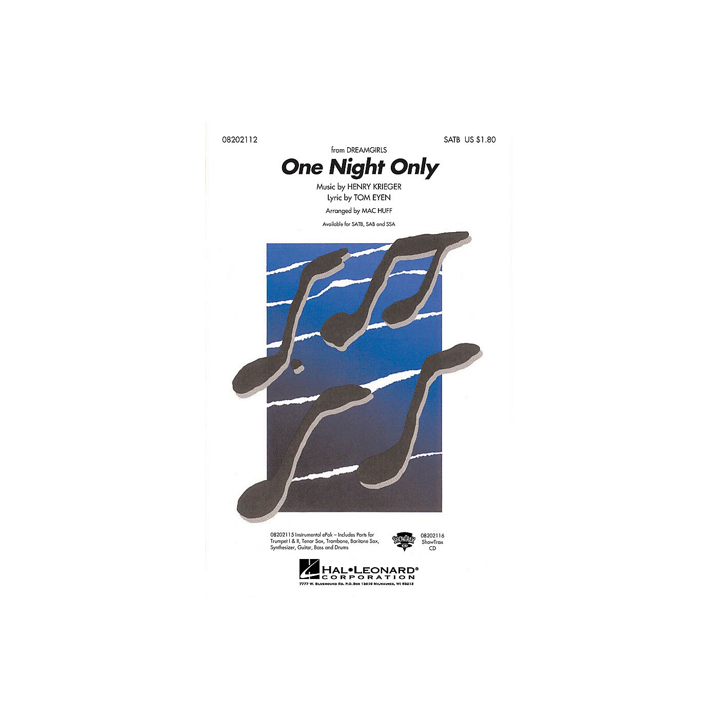 Hal Leonard One Night Only ShowTrax CD Arranged by Mac Huff thumbnail