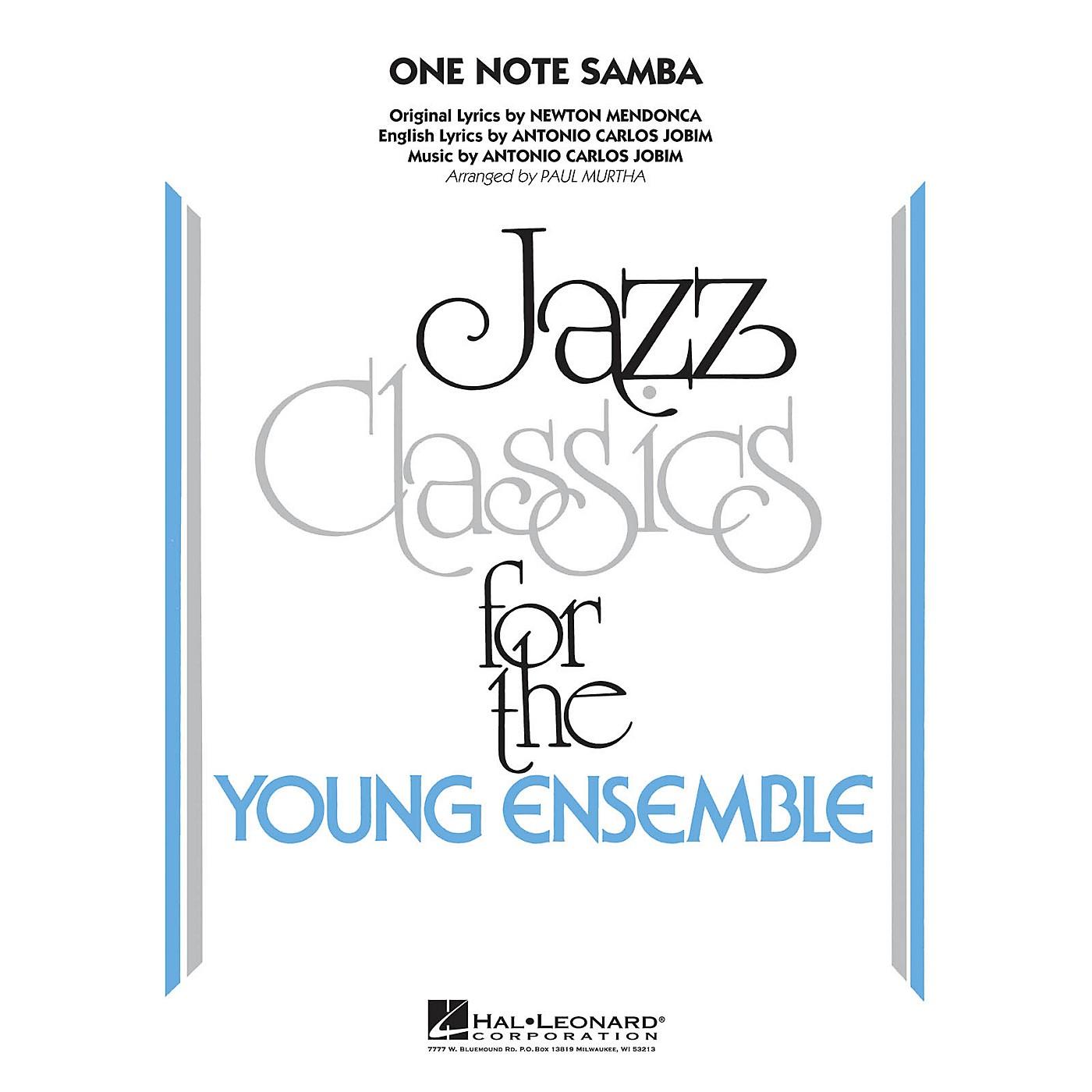 Hal Leonard One Note Samba Jazz Band Level 3 by Antonio Carlos Jobim Arranged by Paul Murtha thumbnail