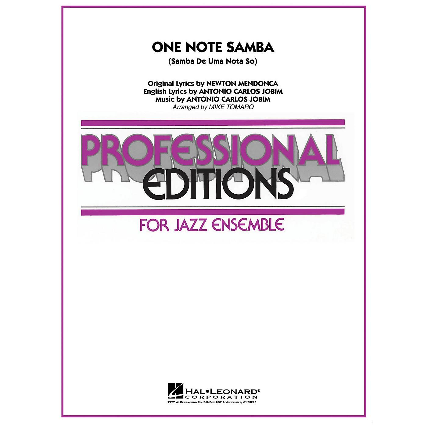 Hal Leonard One Note Samba Jazz Band Level 5 Arranged by Mike Tomaro thumbnail