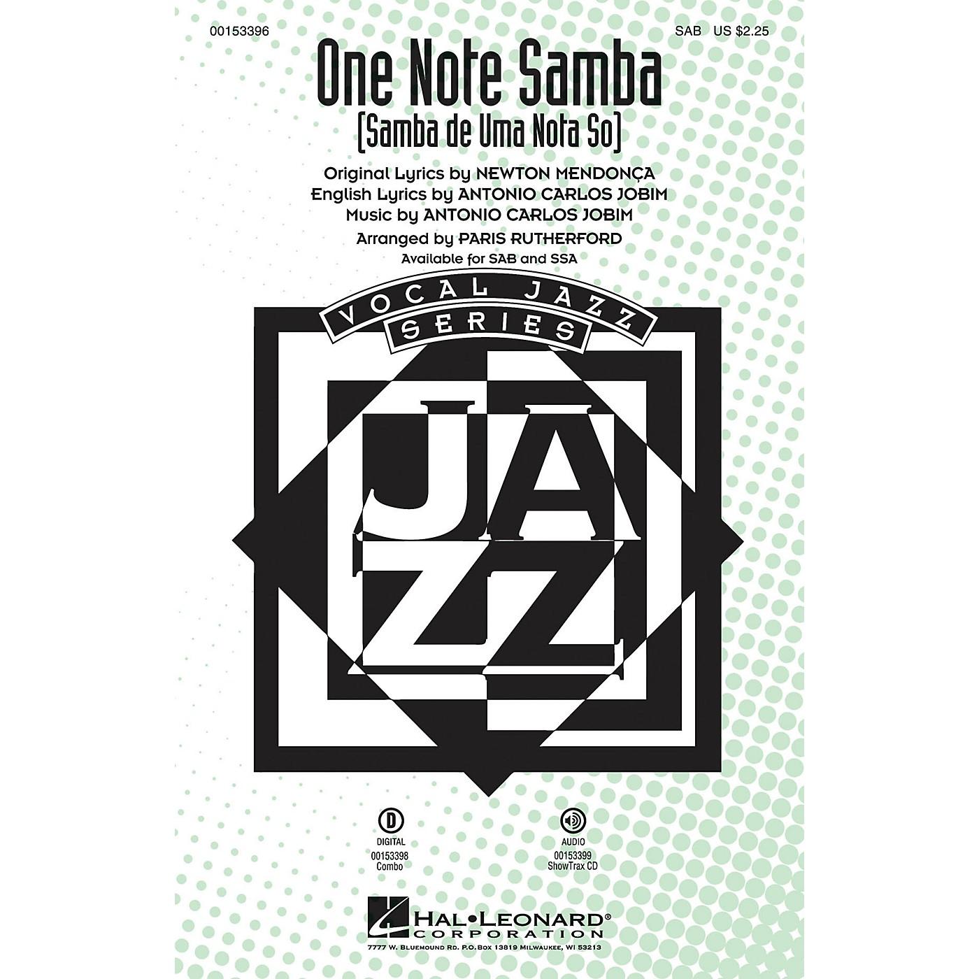 Hal Leonard One Note Samba (Samba de uma nota só) SSA Arranged by Paris Rutherford thumbnail