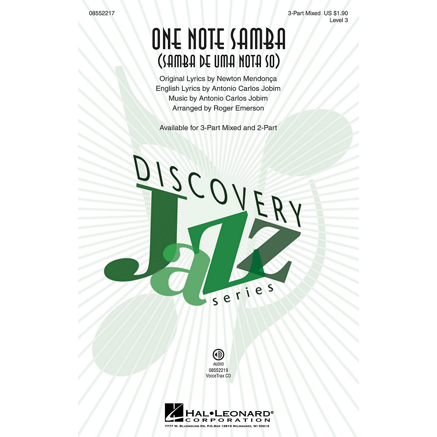 Hal Leonard One Note Samba VoiceTrax CD by Antonio Carlos Jobim Arranged by Roger Emerson thumbnail