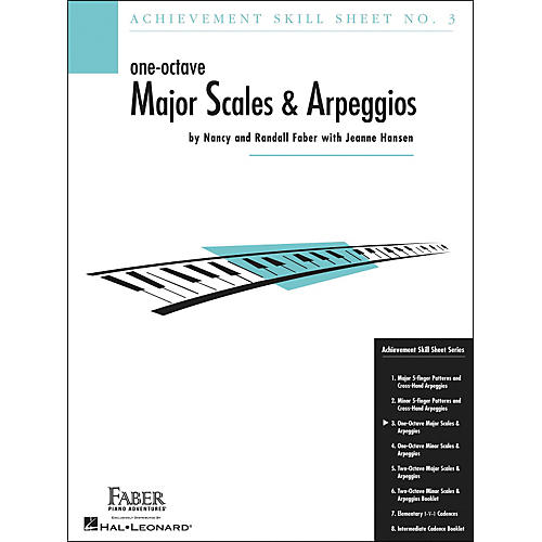 Faber Piano Adventures One-Octave Major Scales And Arpeggios Skill Sheet No.3 - Faber Piano thumbnail