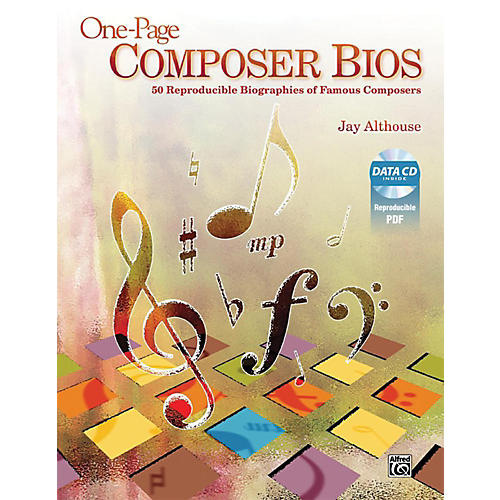 Alfred One-Page Composer Bios Book & Data CD thumbnail