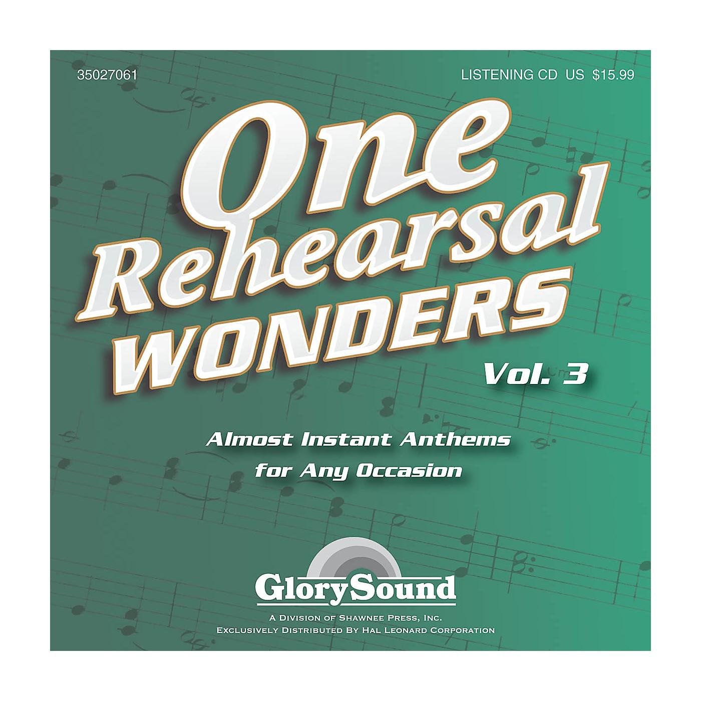 Shawnee Press One Rehearsal Wonders, Volume 3 Listening CD composed by J. Paul Williams thumbnail
