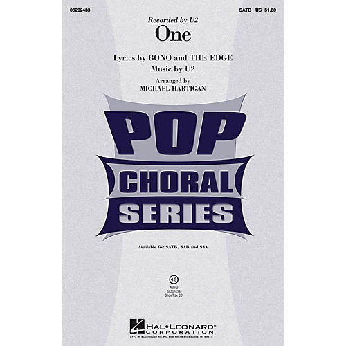 Hal Leonard One SAB by U2 Arranged by Michael Hartigan thumbnail