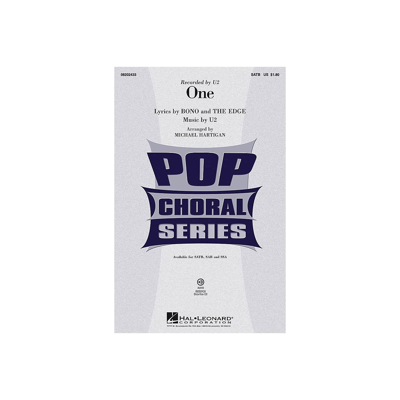 Hal Leonard One SSA by U2 Arranged by Michael Hartigan thumbnail