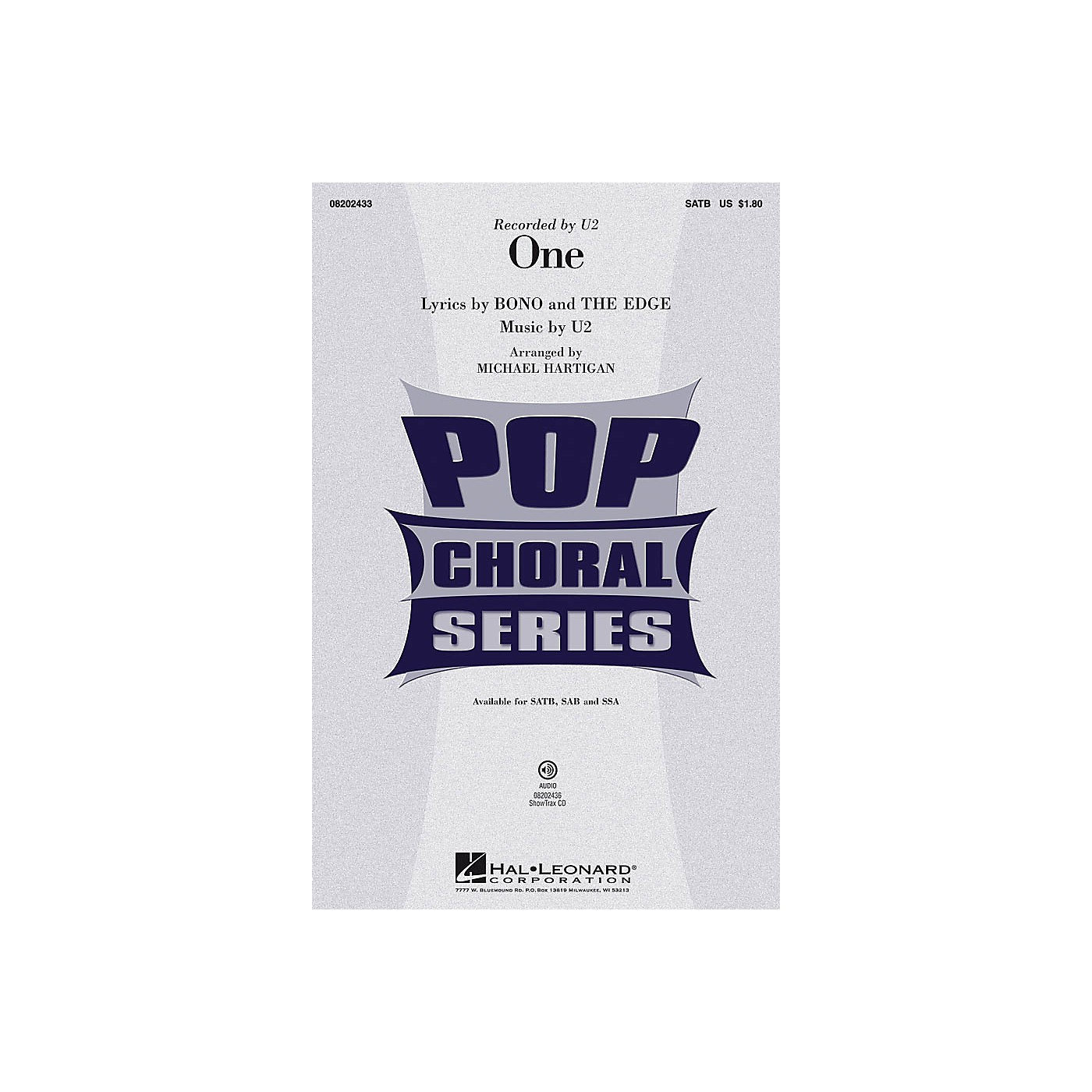 Hal Leonard One ShowTrax CD by U2 Arranged by Michael Hartigan thumbnail