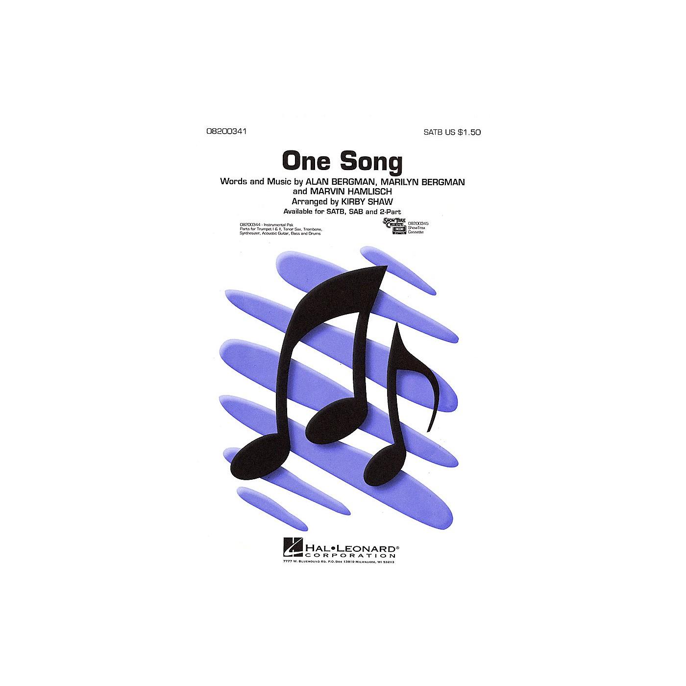 Hal Leonard One Song SAB Arranged by Kirby Shaw thumbnail