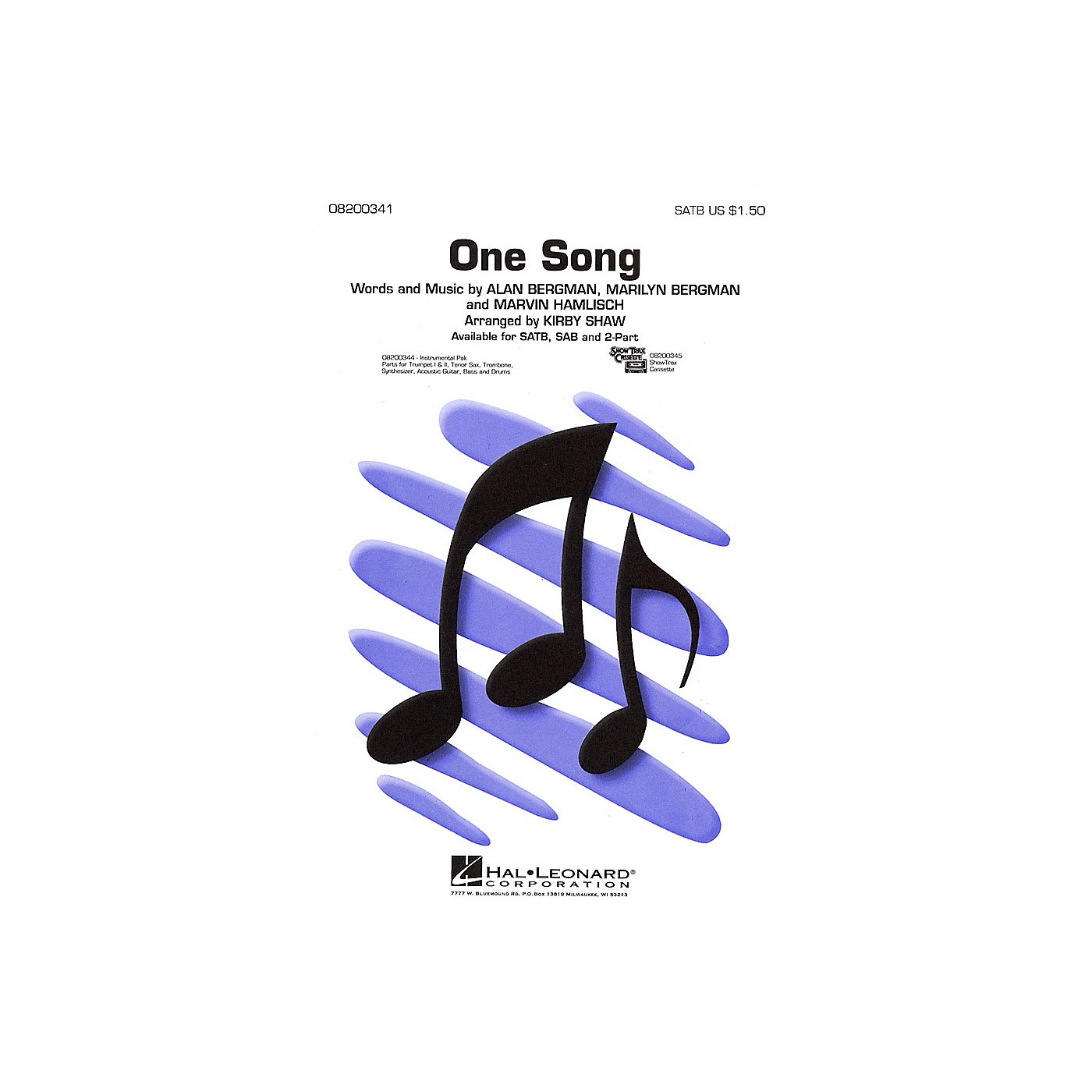 Hal Leonard One Song ShowTrax CD Arranged by Kirby Shaw thumbnail