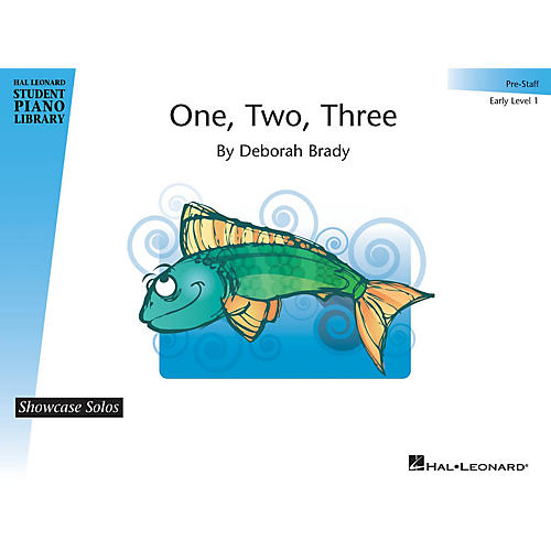 Hal Leonard One, Two, Three Piano Library Series by Deborah Brady (Level Early Elem (Pre-Staff)) thumbnail