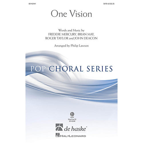 De Haske Music One Vision (ShowTrax CD) ShowTrax CD Arranged by Philip Lawson thumbnail