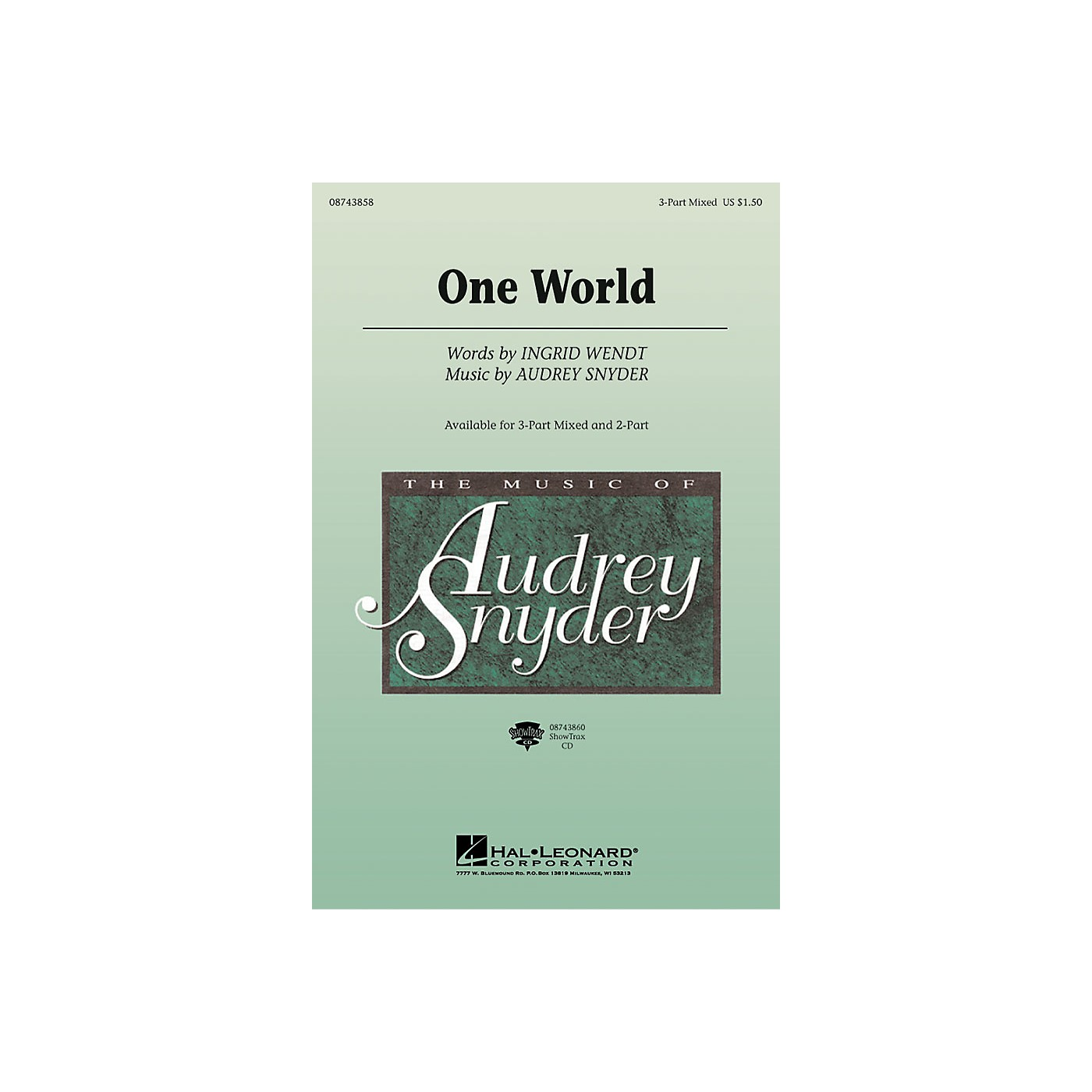 Hal Leonard One World ShowTrax CD Composed by Audrey Snyder thumbnail