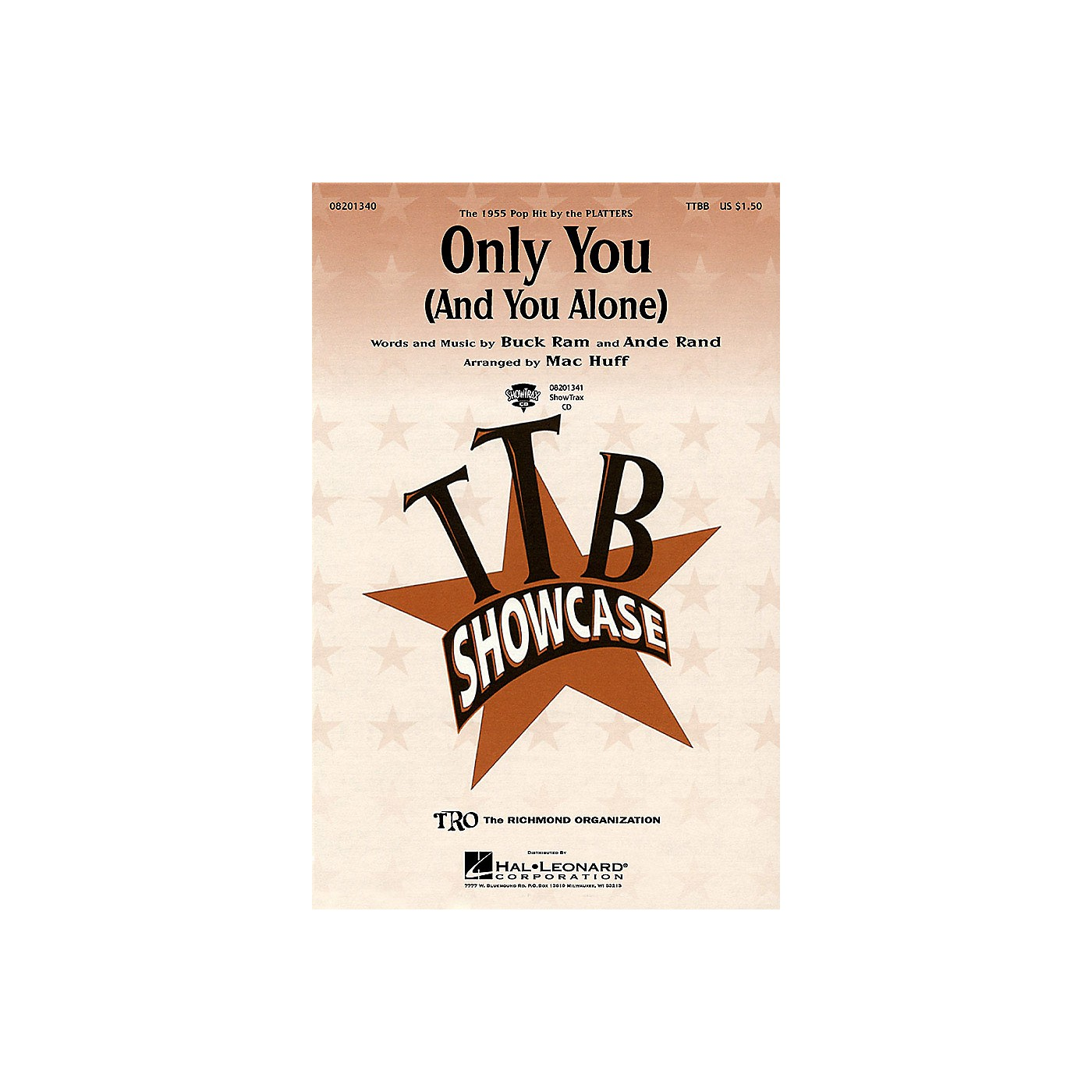 Hal Leonard Only You (And You Alone) ShowTrax CD by The Platters Arranged by Mac Huff thumbnail