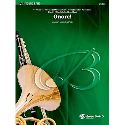BELWIN Onore! Concert Band Grade 2 (Easy) thumbnail