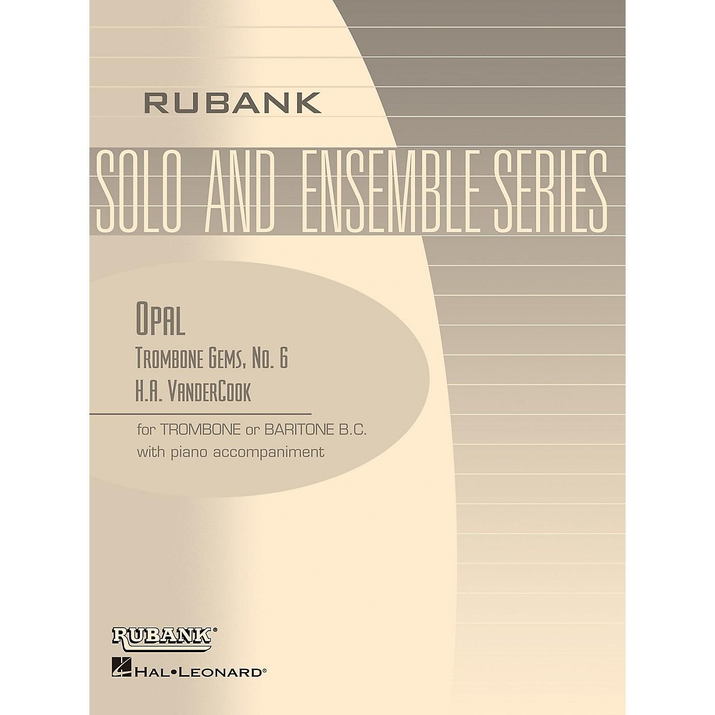 Rubank Publications Opal (Trombone (Baritone B.C.) Solo with Piano - Grade 2) Rubank Solo/Ensemble Sheet Series thumbnail