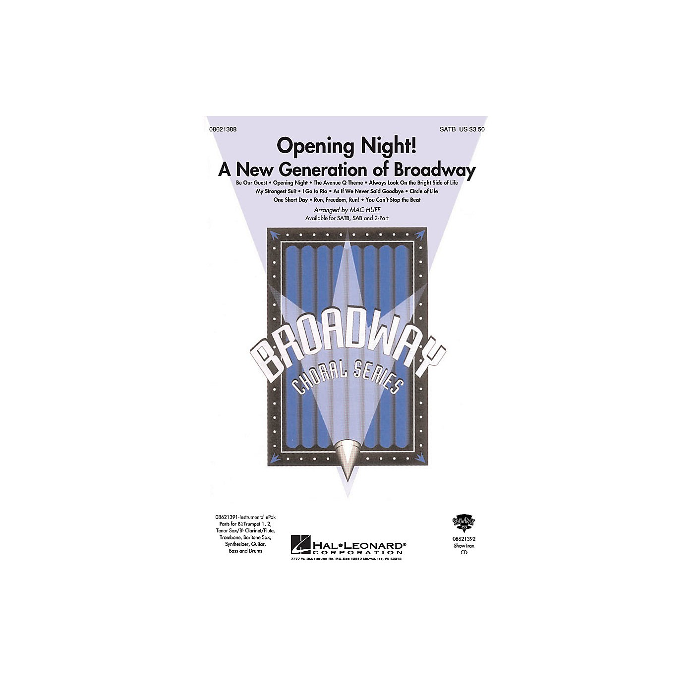 Hal Leonard Opening Night (A New Generation of Broadway) SATB arranged by Mac Huff thumbnail