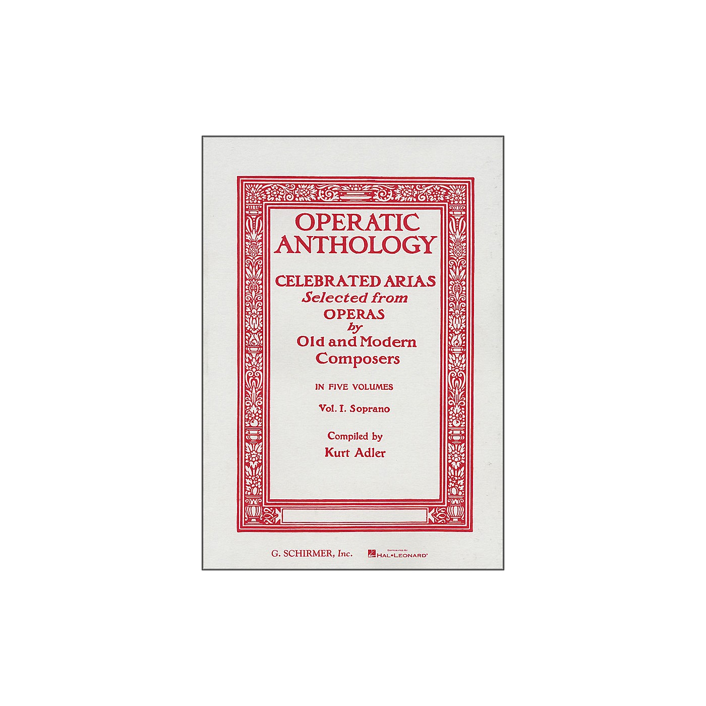 G. Schirmer Operatic Anthology Vol 1 Soprano Celebrated Arias thumbnail