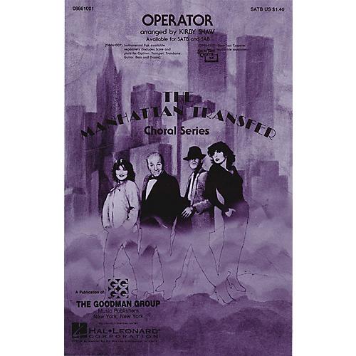 Hal Leonard Operator SSA by The Manhattan Transfer Arranged by Kirby Shaw thumbnail
