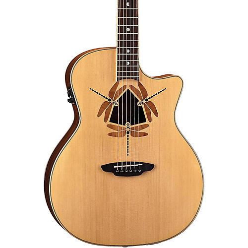 Luna Guitars Oracle Dragonfly Grand Concert Cutaway Acoustic-Electric Guitar thumbnail