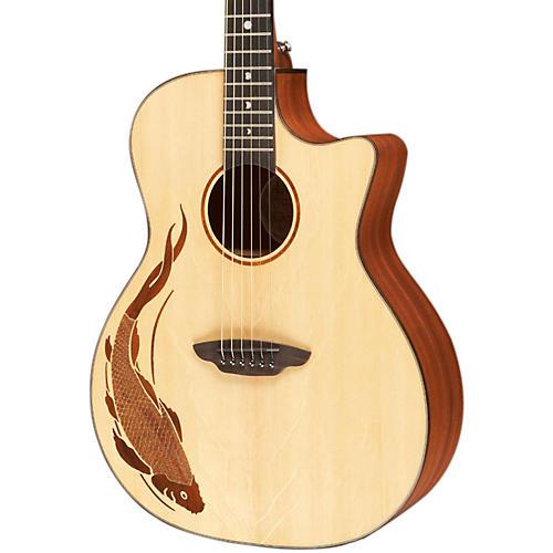 Luna Guitars Oracle Grand Concert Series Koi Acoustic-Electric Guitar thumbnail