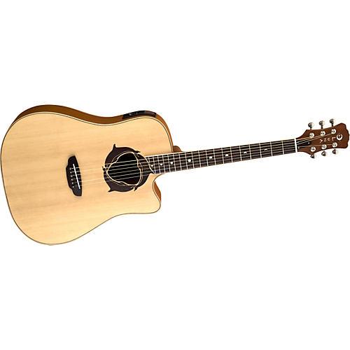 Luna Guitars Oracle Series Dolphin Dreadnought Cutaway Acoustic-Electric Guitar thumbnail
