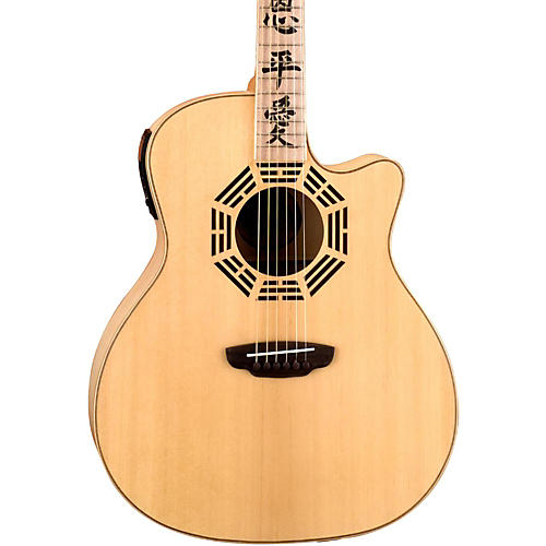 Luna Guitars Oracle Series Zen Grand Auditorium Cutaway Acoustic-Electric Guitar thumbnail