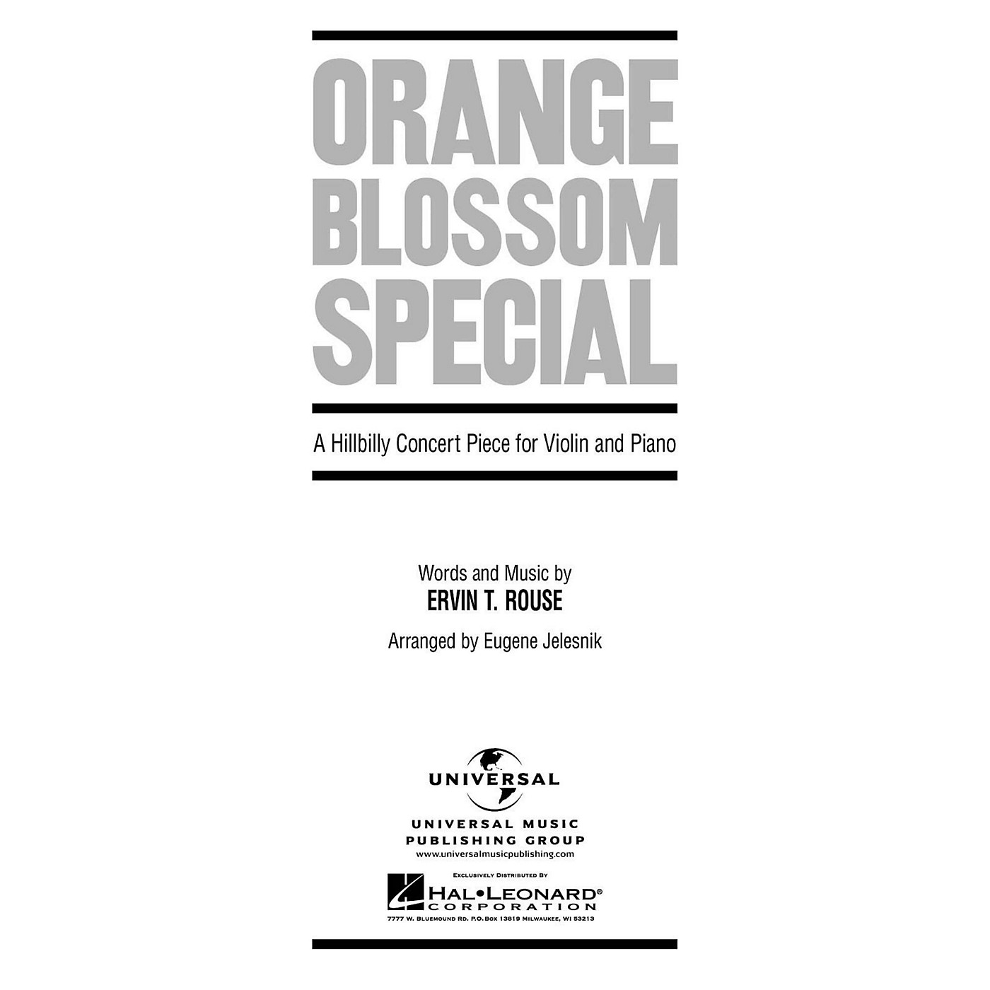 Hal Leonard Orange Blossom Special A Hillbilly Concert Piece for Violin And Piano By Rouse thumbnail
