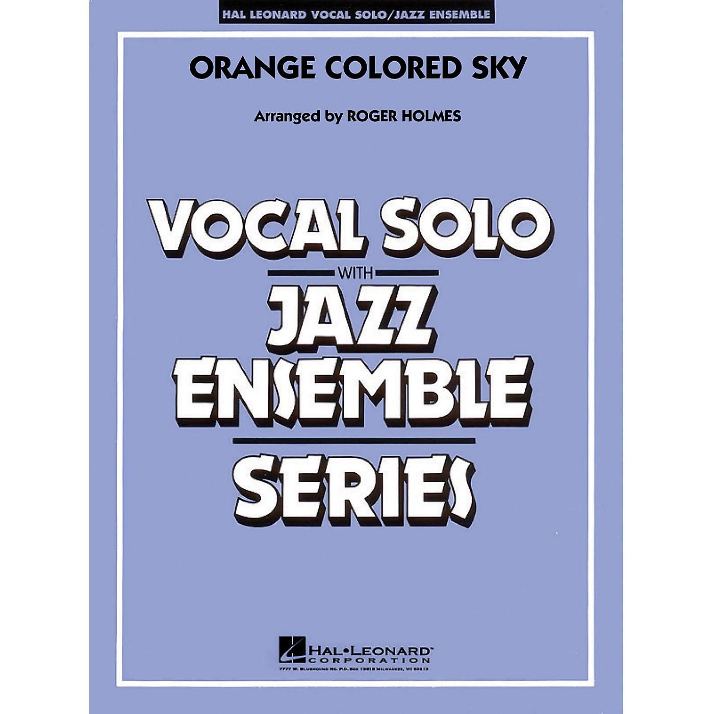 Hal Leonard Orange Colored Sky (Key: G) (Vocal Solo with Jazz Ensemble) Jazz Band Level 3-4 Composed by Milton DeLugg thumbnail