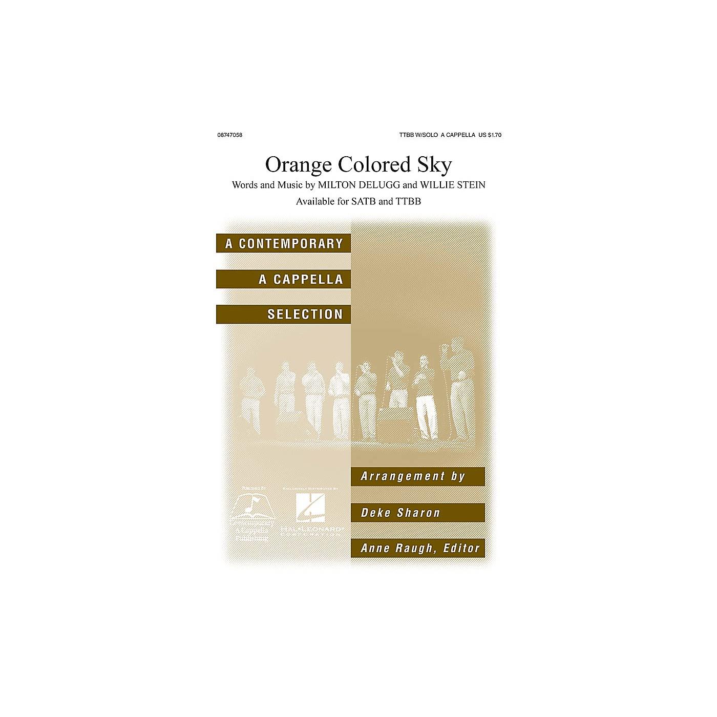 Hal Leonard Orange Colored Sky TTBB A Cappella arranged by Deke Sharon thumbnail