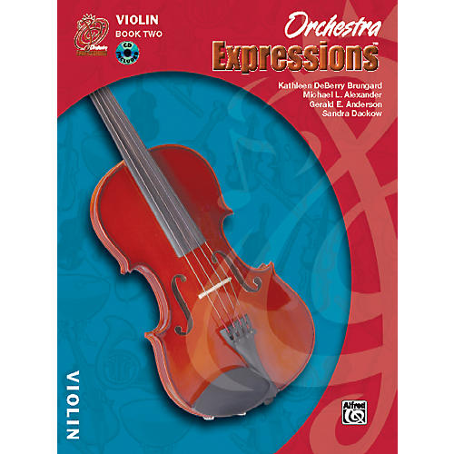 Alfred Orchestra Expressions Book Two Student Edition Violin Book & CD 1-thumbnail