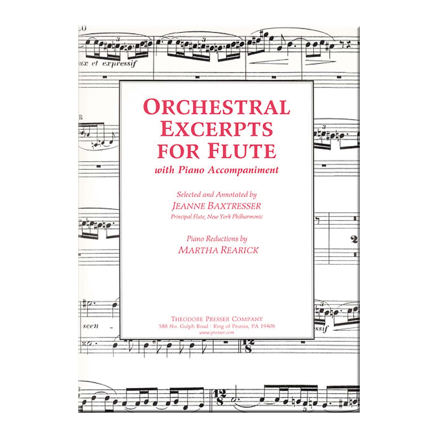 Carl Fischer Orchestral Excerpts For Flute thumbnail