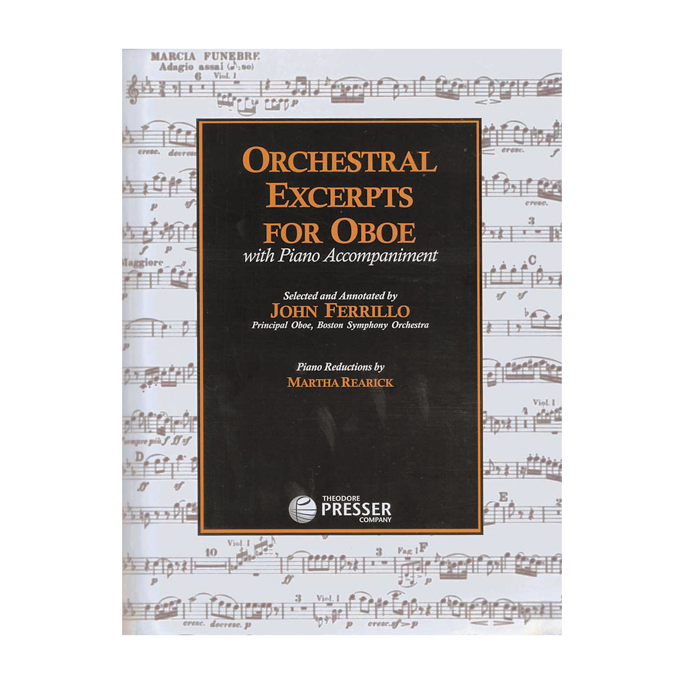 Carl Fischer Orchestral Excerpts For Oboe Book thumbnail