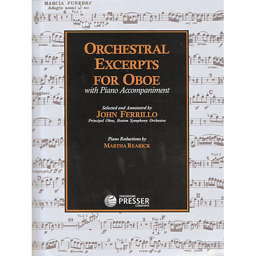 Carl Fischer Orchestral Excerpts For Oboe Book-thumbnail