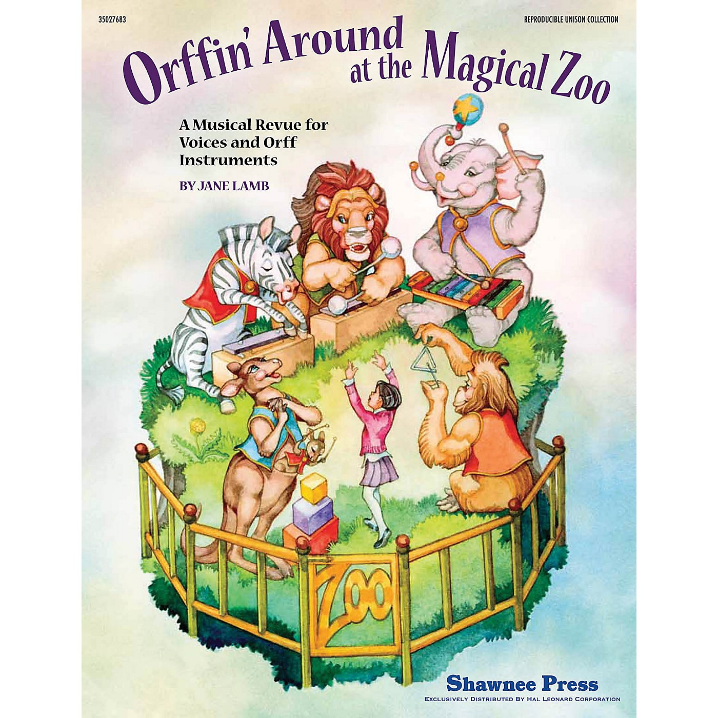 Shawnee Press Orffin' Around at the Magical Zoo ORFF COLLECTION W/ UNISON VOCA Composed by Jane Lamb thumbnail