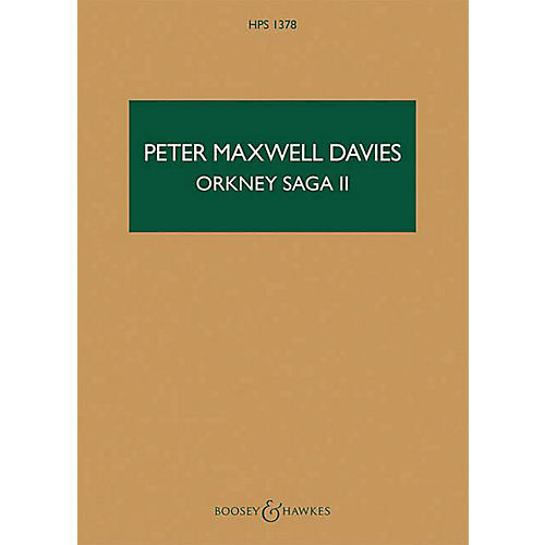 Boosey and Hawkes Orkney Saga II Boosey & Hawkes Scores/Books Series Softcover Composed by Peter Maxwell Davies thumbnail