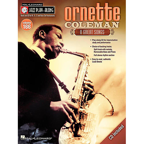 Hal Leonard Ornette Coleman - Jazz Play-Along Volume 166 Book/CD thumbnail