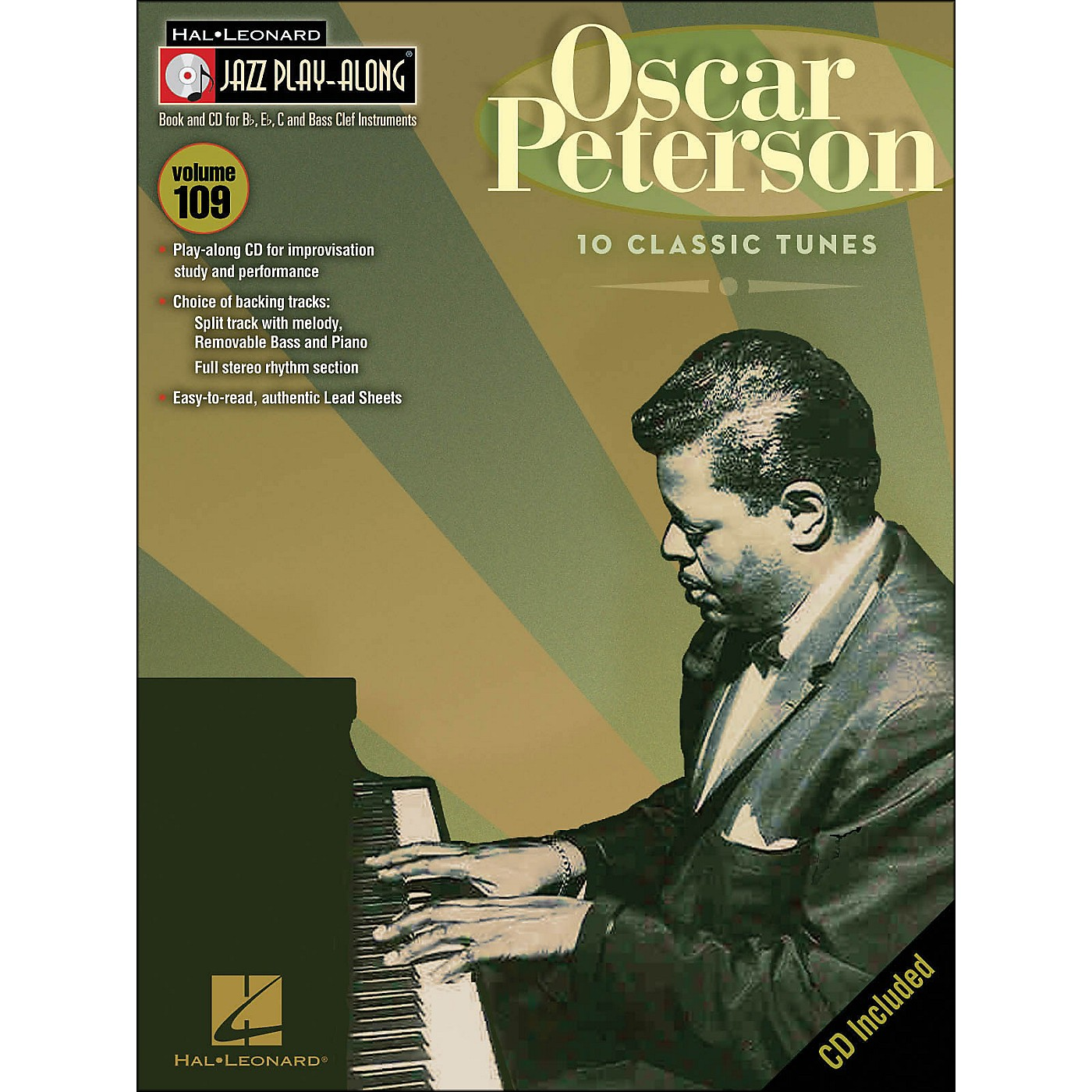 Hal Leonard Oscar Peterson Jazz Play- Along Volume 109 Book/CD thumbnail