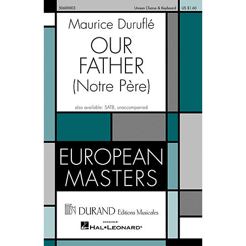 Editions Durand Our Father (Notre Pére) composed by Maurice Duruflé thumbnail