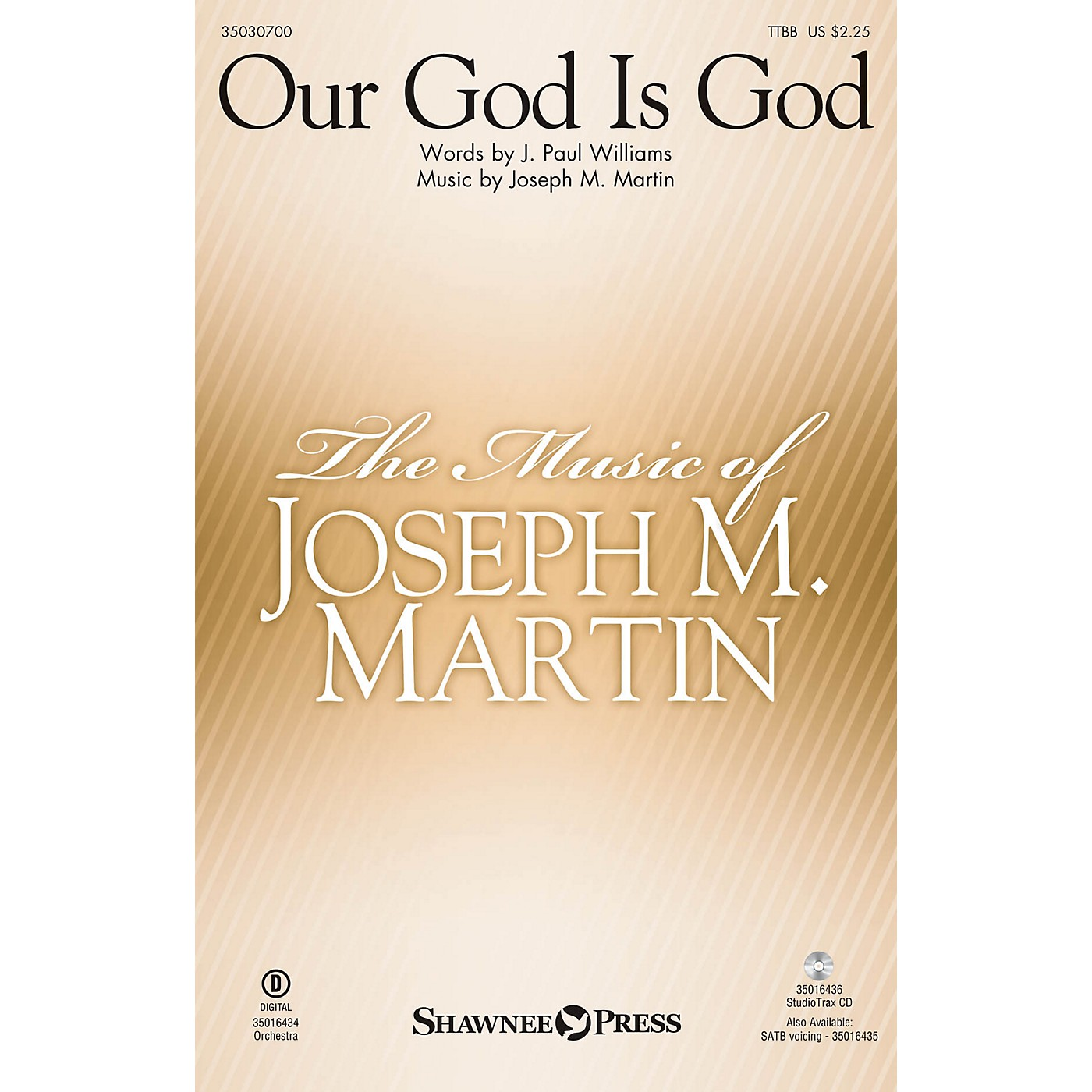 Shawnee Press Our God Is God TTBB composed by Joseph M. Martin thumbnail