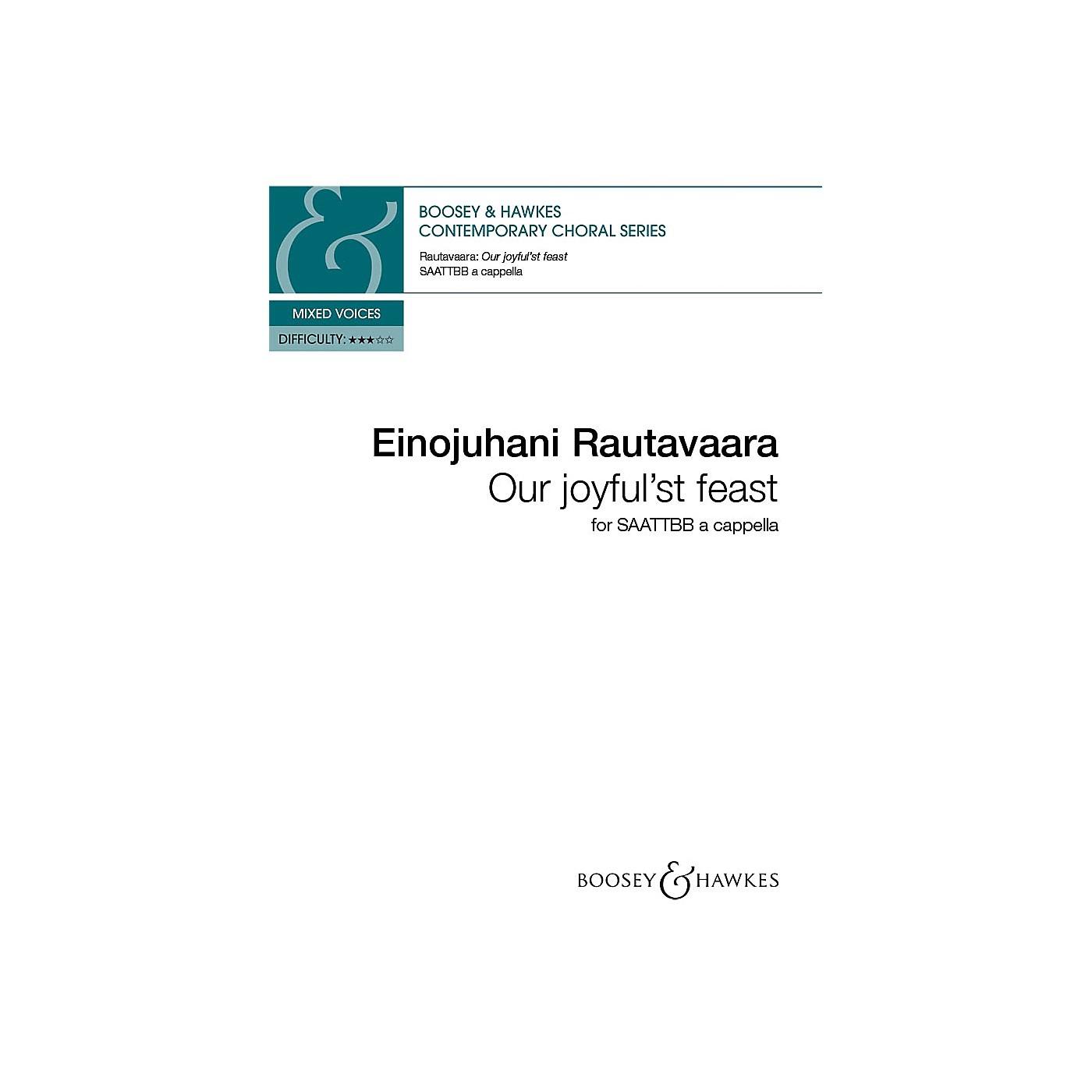 Hal Leonard Our Joyful'st Feast (SAATTBB a cappella) SAATTBB A CAPPELLA composed by Einojuhani Rautavaara thumbnail