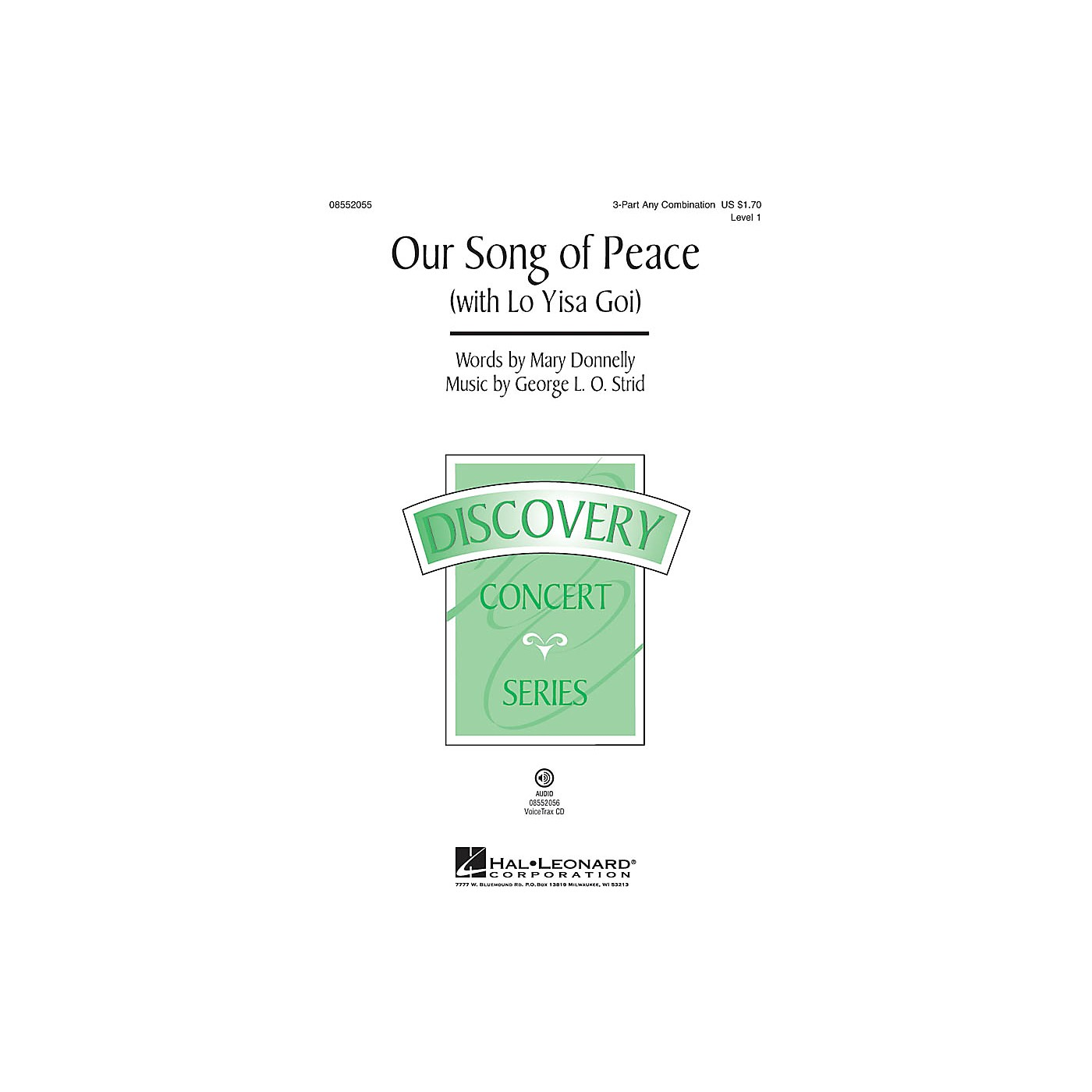 Hal Leonard Our Song of Peace (with Lo Yisa Goi) Discovery Level 1 3 Part Any Combination by George L.O. Strid thumbnail