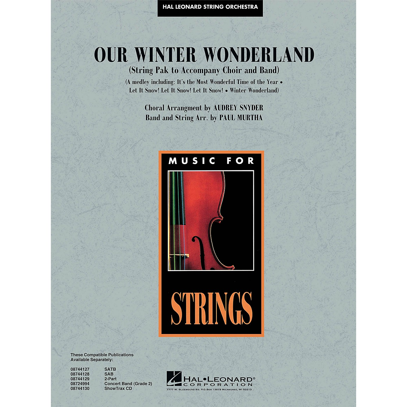 Hal Leonard Our Winter Wonderland Music for String Orchestra Series Arranged by Paul Murtha thumbnail