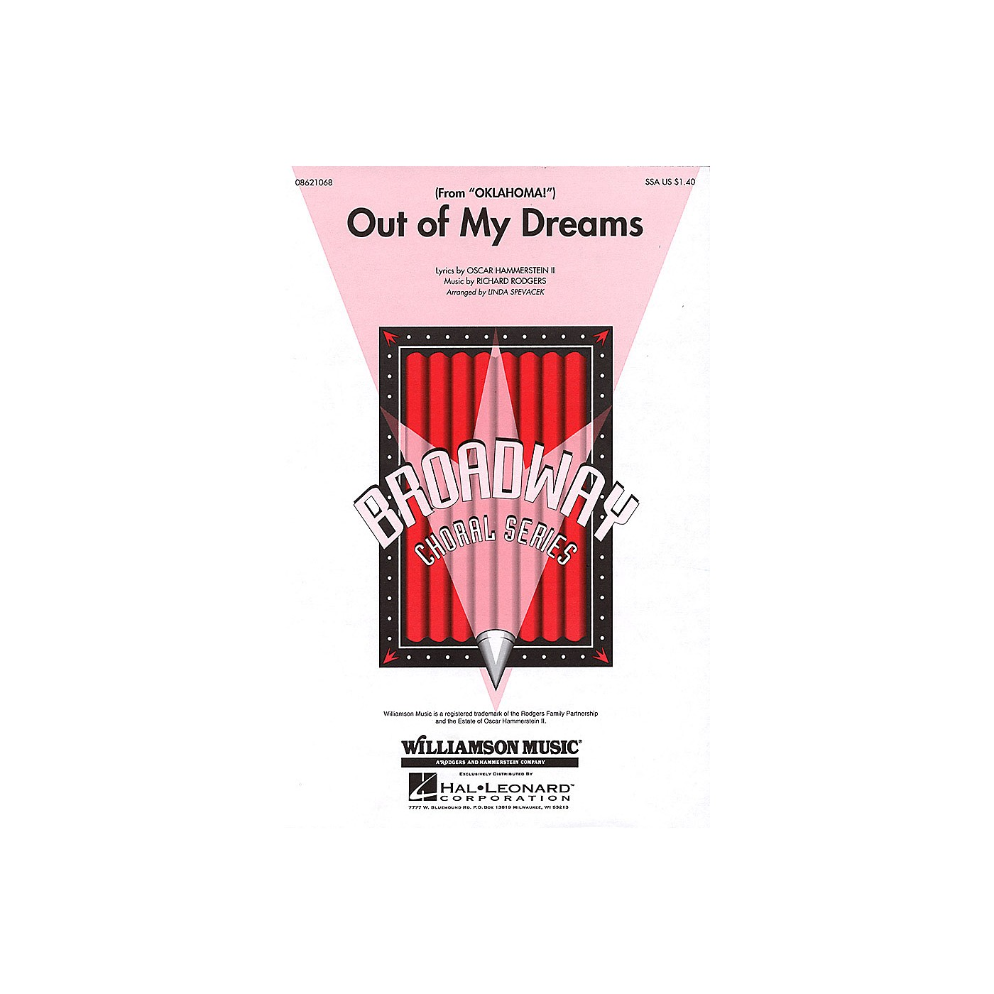 Hal Leonard Out of My Dreams (from Oklahoma!) SSA arranged by Linda Spevacek thumbnail