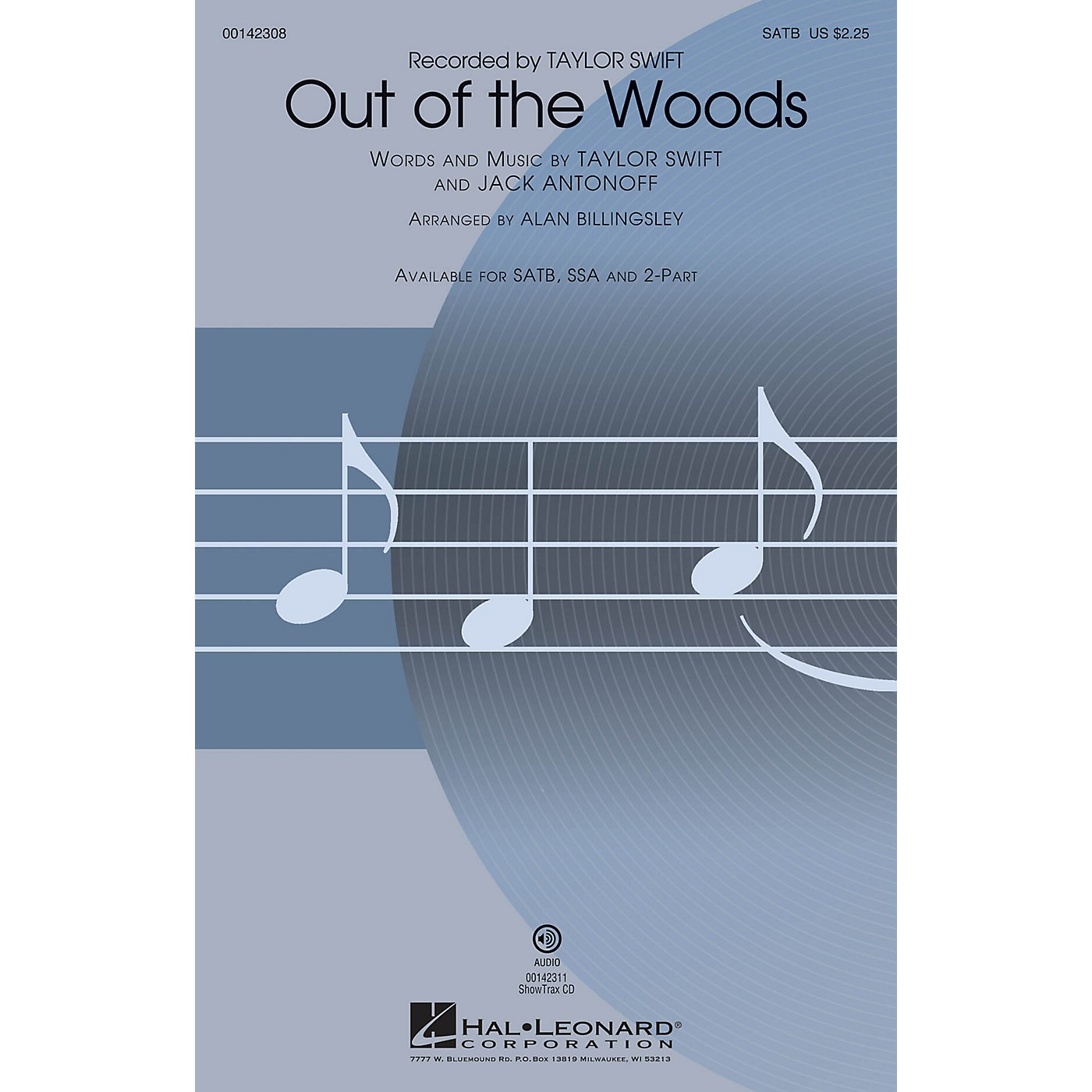 Hal Leonard Out of the Woods SATB arranged by Alan Billingsley thumbnail