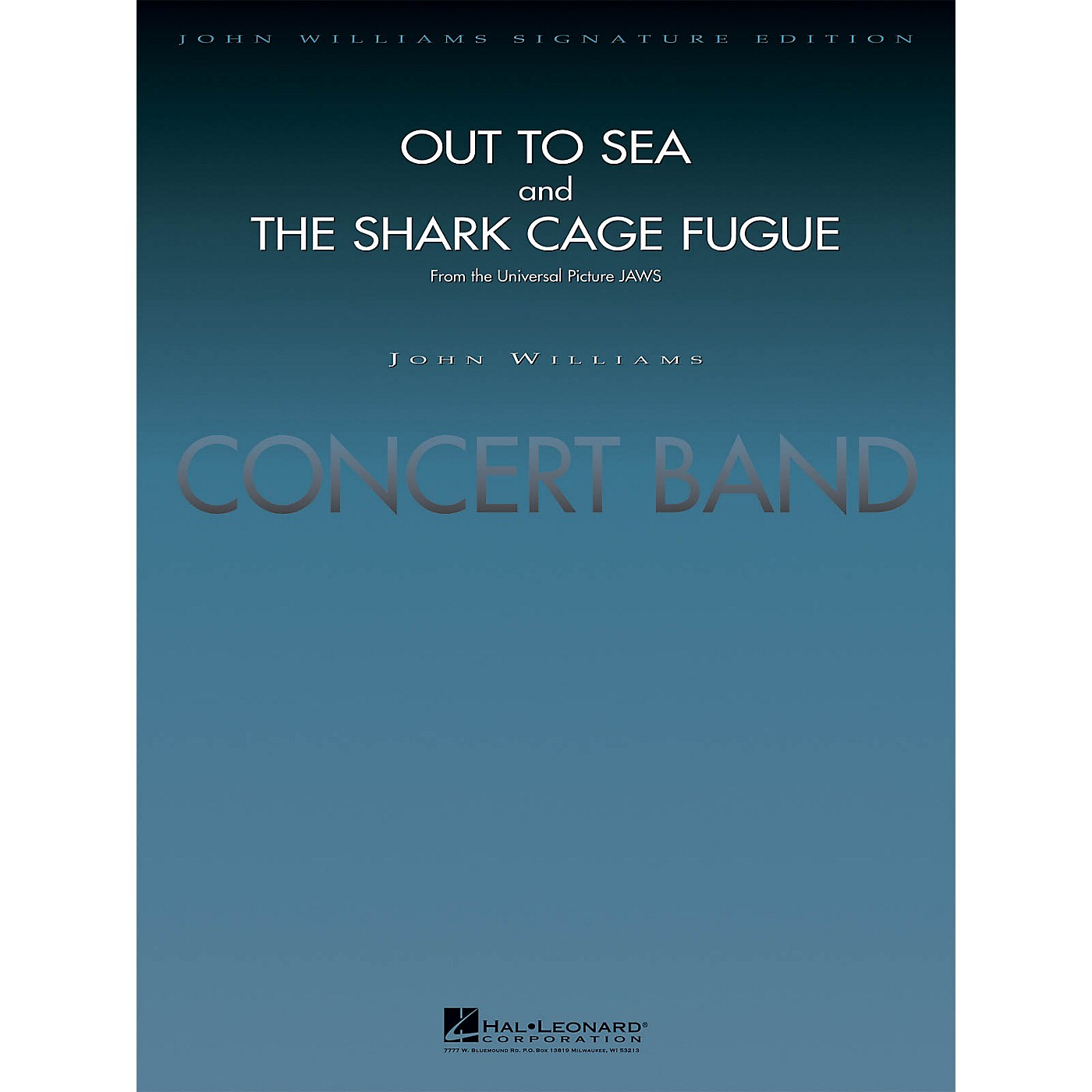 Hal Leonard Out to Sea and The Shark Cage Fugue (from Jaws) (Score and Parts) Concert Band Level 5 by Jay Bocook thumbnail