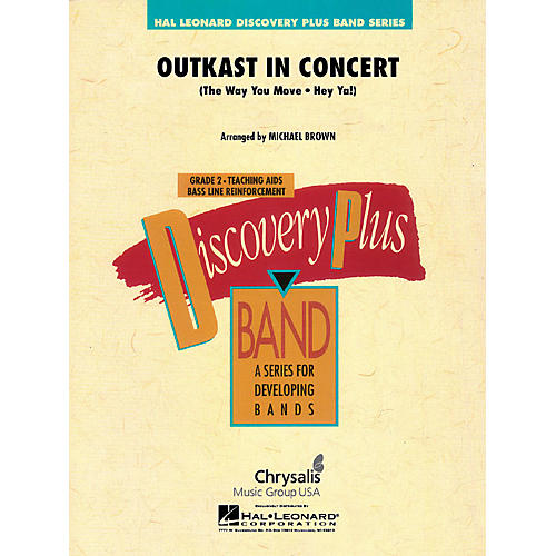Hal Leonard OutKast in Concert - Discovery Plus Concert Band Series Level 2 arranged by Michael Brown thumbnail