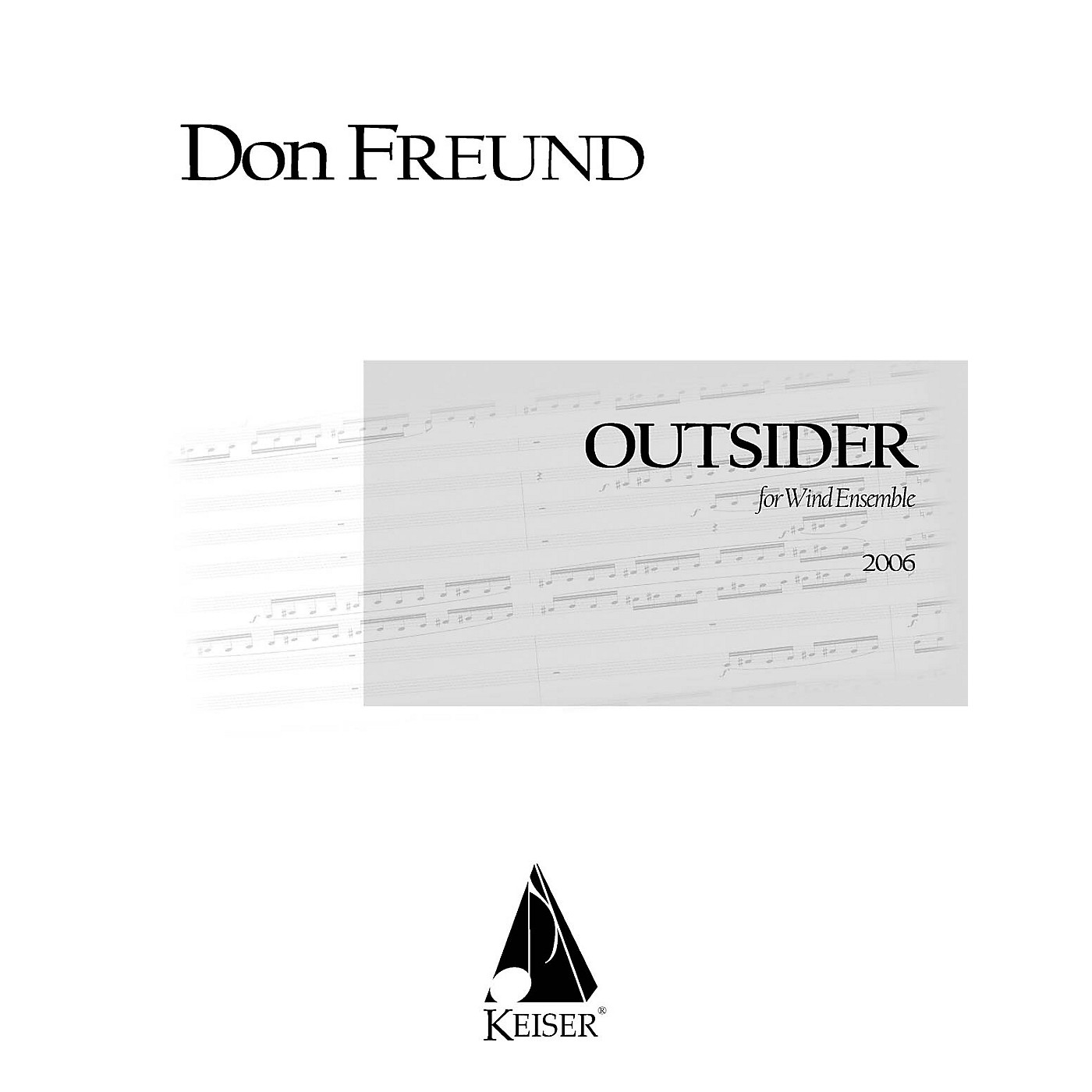 Lauren Keiser Music Publishing Outsider for Wind Ensemble LKM Music Series Softcover  by Don Freund thumbnail