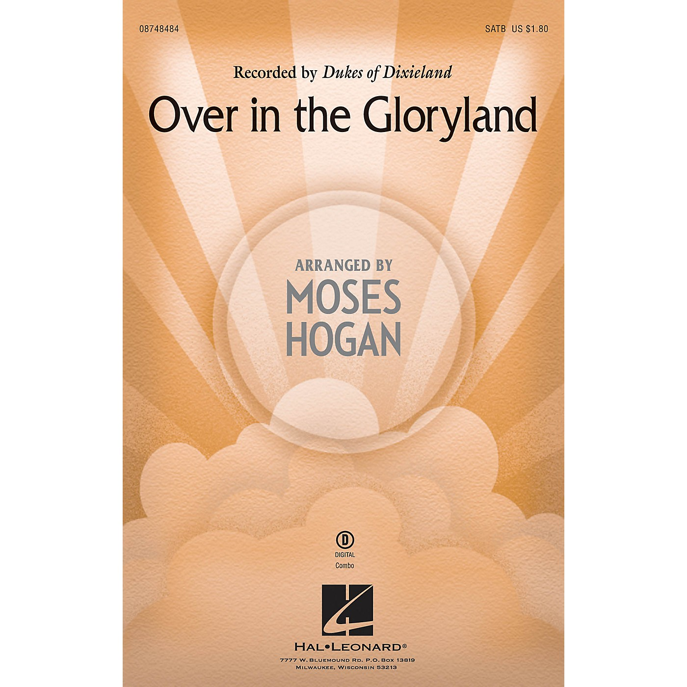Hal Leonard Over in the Gloryland SATB by Dukes Of Dixieland arranged by Moses Hogan thumbnail