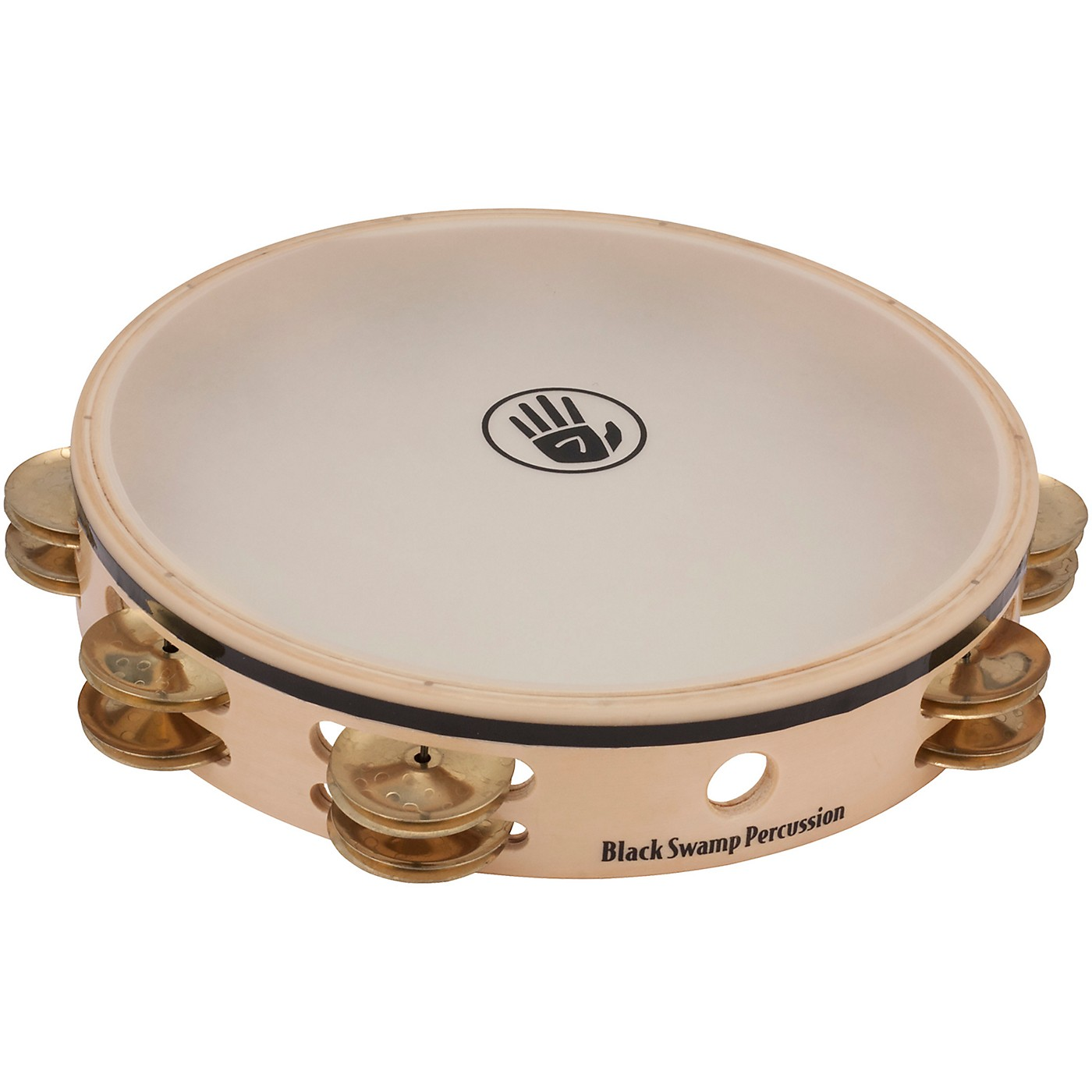 Black Swamp Percussion Overture Series 10in Tambourine Double Row with Remo head thumbnail