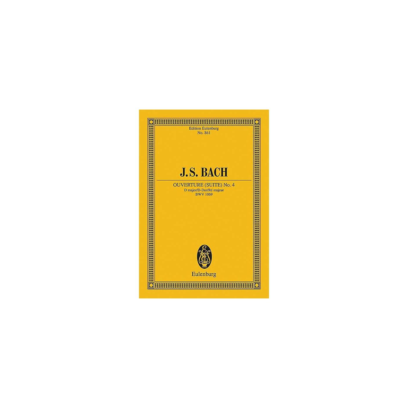 Eulenburg Overture (Suite) No. 4 in D Major, BWV 1069 Schott by Bach Arranged by Wilhelm Altmann thumbnail